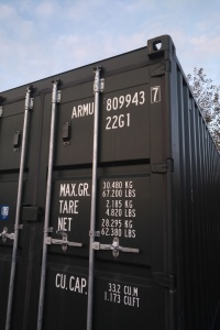 green shipping container for self storage in carlisle