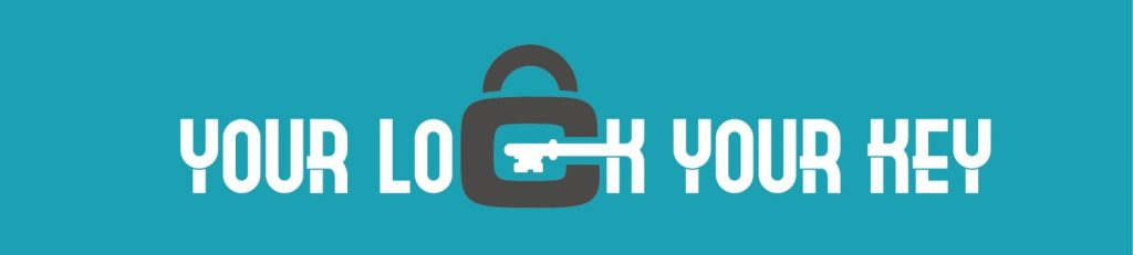 Your lock your key logo