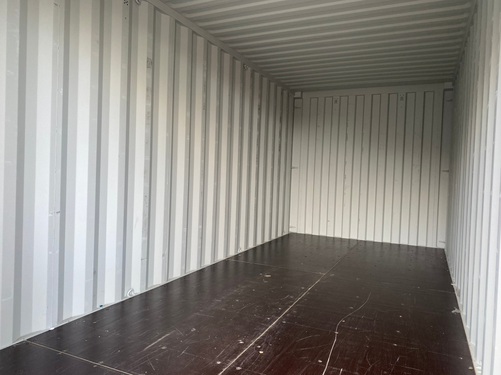 Interior of a shipping container
